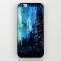 northern lights iPhone & iPod Skins featuring Northern Lights by VivianLohArts