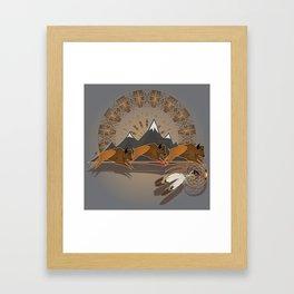 Native American Indian Buffalo Nation Framed Art Print