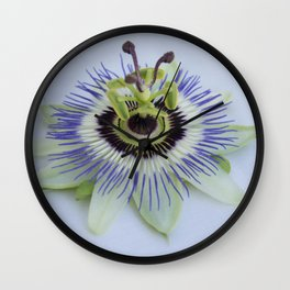 pation flower Wall Clock