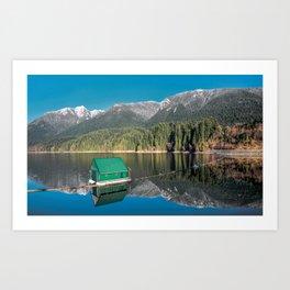 Capilano Lake  - reservoir Art Print