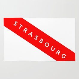 strasbourg city france country flag name text Rug