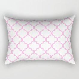 Moroccan Trellis (Pink & White Pattern) Rectangular Pillow