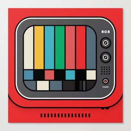 red TV and test pattern Canvas Print
