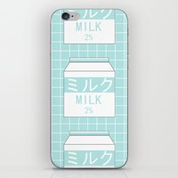 milk iPhone & iPod Skins featuring Milk by Lazy Queen