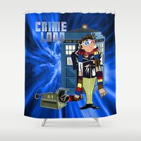 minions Shower Curtains featuring Crime Lord by Mannart