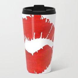 fire engine red lips Travel Mug