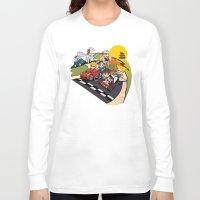 mario kart Long Sleeve T-shirts featuring Super Fighting Kart by Legendary Phoenix