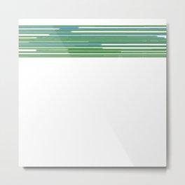 Design lines, green Metal Print