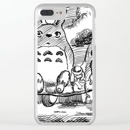 My Neighbour Toto Illustration Clear iPhone Case