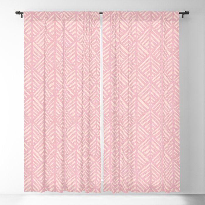 Abstract Leaf Pattern In Pink Blackout Curtain By Beckybailey1 Society6