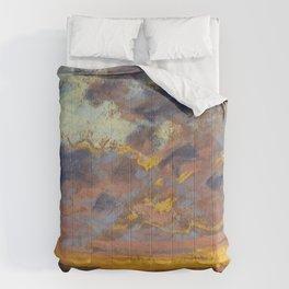 """Claude Monet """"Coucher de soleil"""" Comforters"""