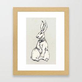 lady rabbit Framed Art Print