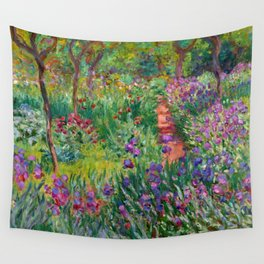 """Claude Monet """"The Iris Garden at Giverny"""", 1899-1900 Wall Tapestry"""