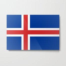 Flag of Iceland - High Quality Image Metal Print