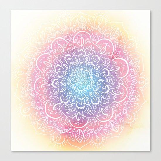 Rainbow Dust Mandala Canvas Print