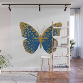 Blue Butterfly Wall Mural
