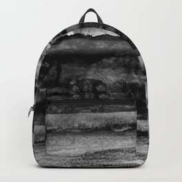 layers in grayscale Backpack