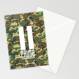 PAUSE – Camo Stationery Cards