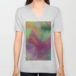 Colorful Lemon Berry Burst Abstract Unisex V-Neck