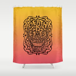 Death is a Lonely Business Shower Curtain