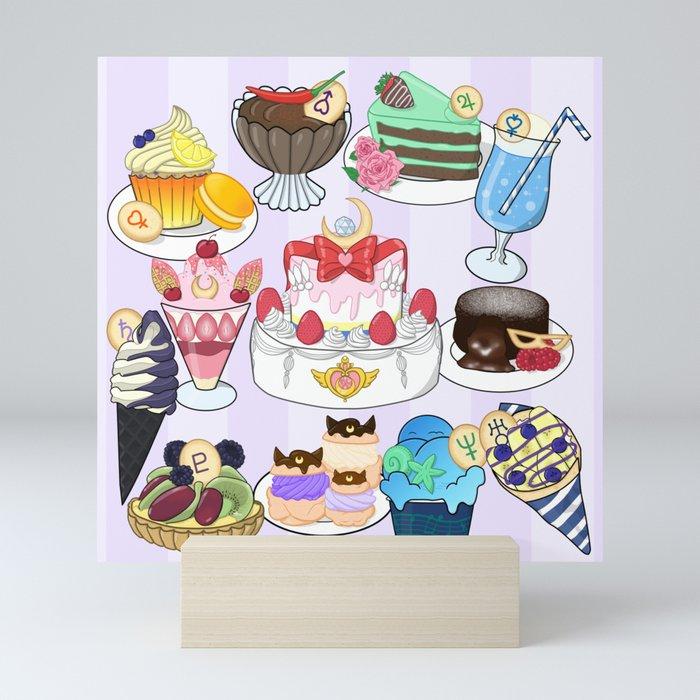 Sailor Senshi Sweets Mini Art Print