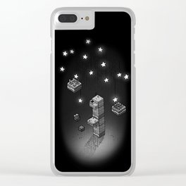 Cube Line Garden v2 Clear iPhone Case