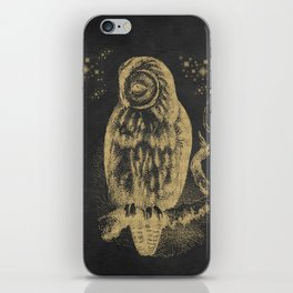 The golden owl iPhone Skin