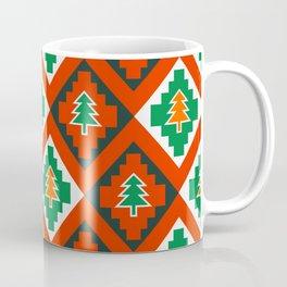 Retro xmas tree pattern Coffee Mug