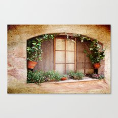 Mediterranean window Canvas Print