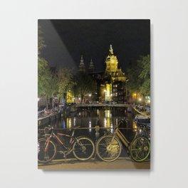 Night lights Metal Print