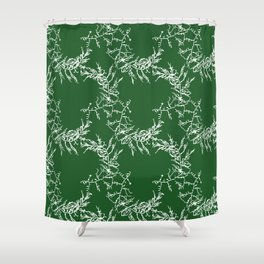Green Seaweed Pattern Shower Curtain