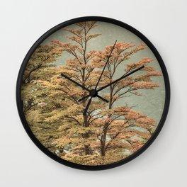 Nature Scene Colored Trees at Glacier Lake- Patagonia Argentina Wall Clock