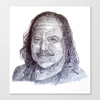 penis Canvas Prints featuring Ron Jeremy penis style by Florian Proust