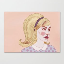 Everything's Better with a Peter Pan Collar Canvas Print