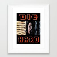 die hard Framed Art Prints featuring Die Hard by AdrockHoward