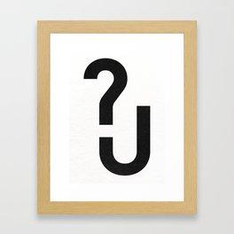 ?U Framed Art Print