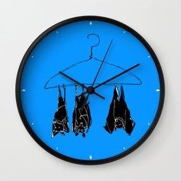 Fruitbats in the closet Wall Clock