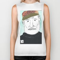 hemingway Biker Tanks featuring Ernest Hemingway with a Hat by DestructionPischke
