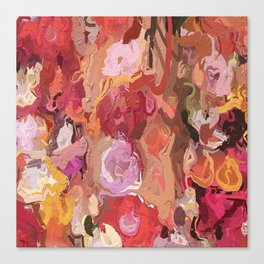 Abstract Red, Orange, Pink 1751 Canvas Print