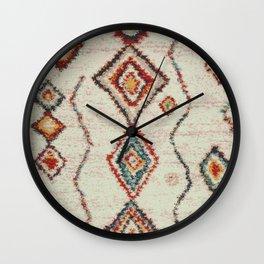 colorful berber carpet Wall Clock