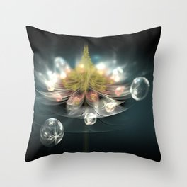 Flower and drops Throw Pillow