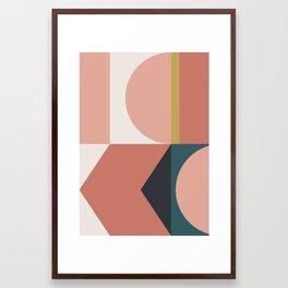 Maximalist Geometric 02 Framed Art Print