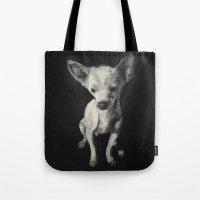 chihuahua Tote Bags featuring Chihuahua dog  by Sara.pdf