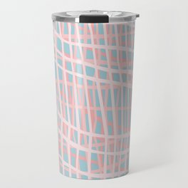 Net Blush Blue Travel Mug