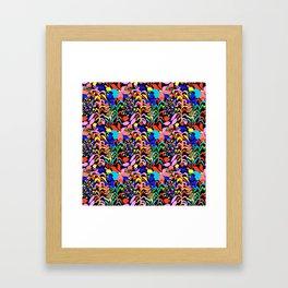 60's Fiesta Floral 2 in Black Framed Art Print