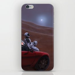 Red Car for the Red Planet iPhone Skin