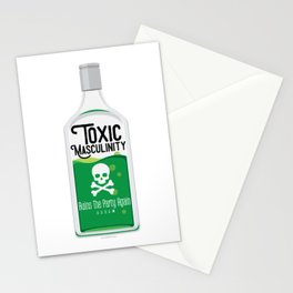 Toxic Masculinity Ruins The Party Again (Green) Stationery Cards