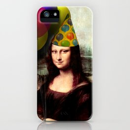 Mona Lisa Birthday Girl iPhone Case