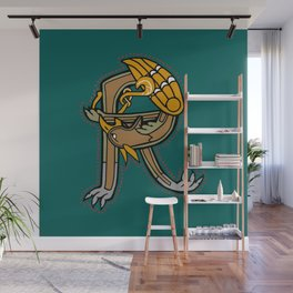 Celtic Medieval Griffin Letter R Wall Mural
