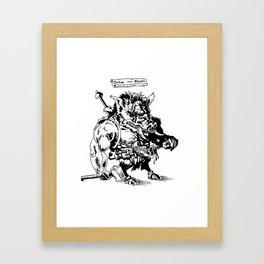 Ontok the Meaty Framed Art Print